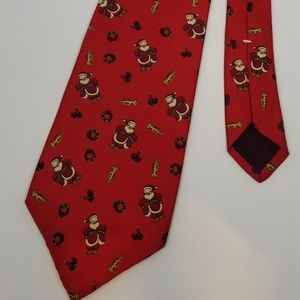 Christmas Santa Stafford Silk Tie Holiday